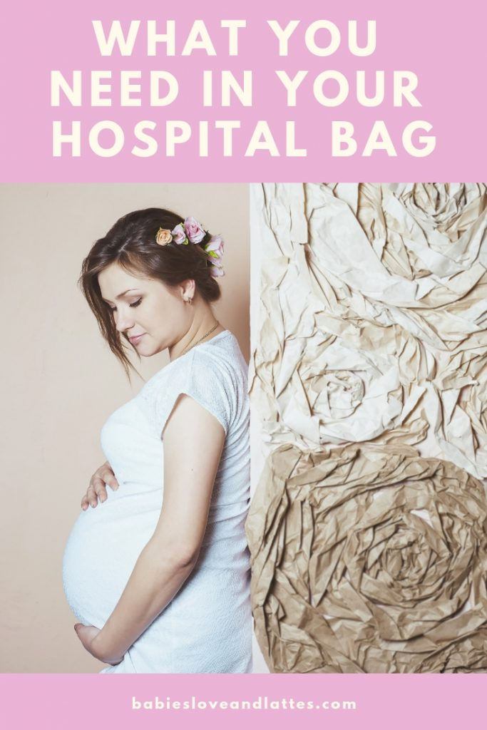 What To Pack For Mom's Hospital Bag.  The important must have items your need in your hospital bag. Pregnancy and maternity article by Babies Love and Lattes, a motherhood blog by Jessica Linn.