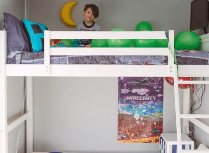 Loft Bed Room Makeover | Making Space in a Townhome