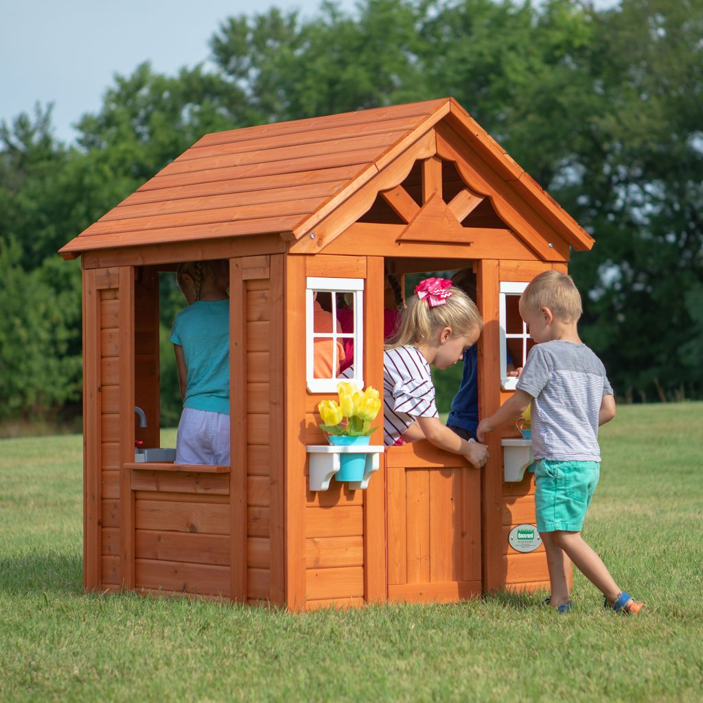 Backyard Discovery Timberlake Wooden Playhouse by Babies Love and Lattes