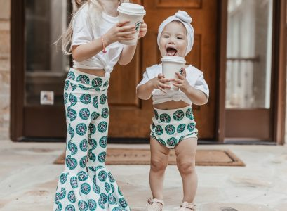 Matching Starbucks Bummies & Bell Bottoms | Small Business Kids Clothes | Babies Love and Lattes by Jessica Linn