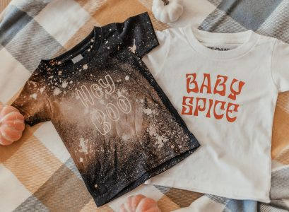 Halloween Shirts For Babies & Kids | Babies Love and Lattes by Jessica Linn Hey Boo Shirt and Baby Spice Shirt