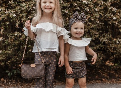 Catalina & Rosa OOTD Tuesday | Louis Vuitton Inspired Outfit | Babies Love and Lattes by Jessica Linn